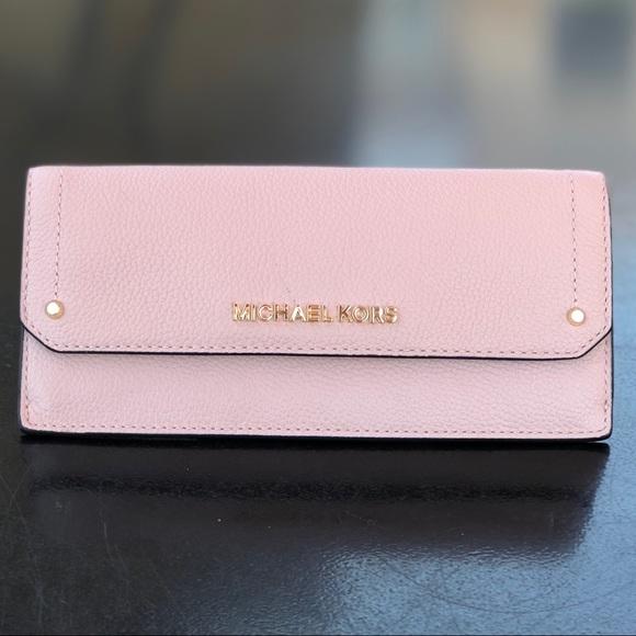 c92cfe894d22 Michael Kors Bags | Hayes Flat Wallet Pastel Pink | Poshmark